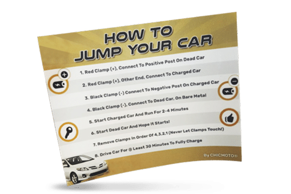 FREE How To Jump Your Car Sticker