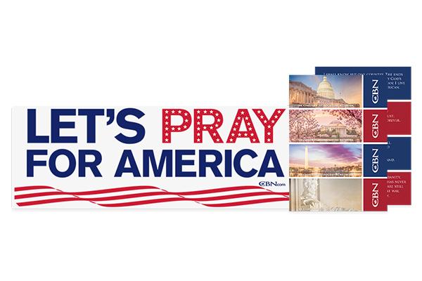 Free Let's Pray For America Sticker