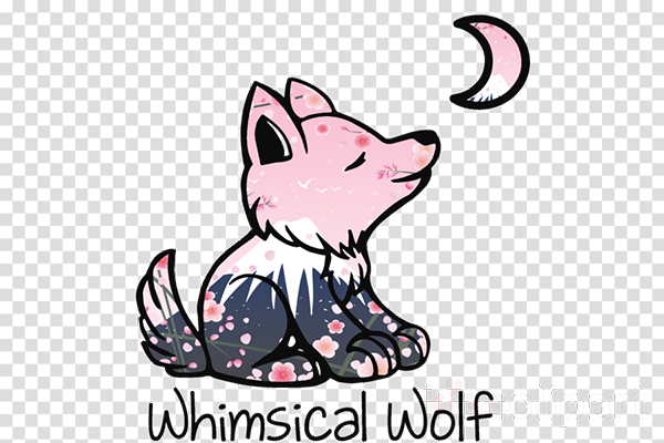 Free Whimsical Wolf Sticker