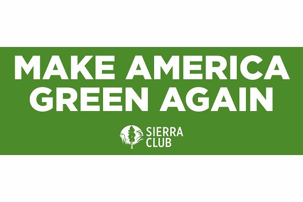 "Free ""Make America Green"" Sticker"