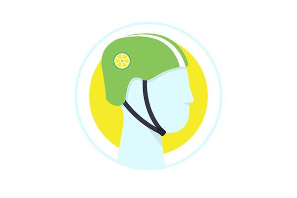Free Lime Bike Helmet