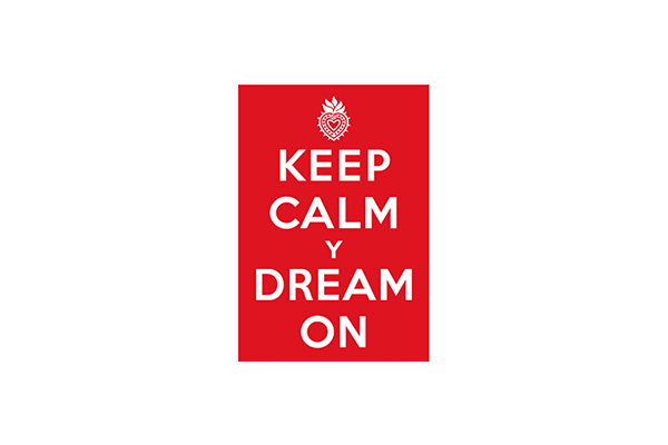 Free Keep Calm Y Dream On Sample Sticker