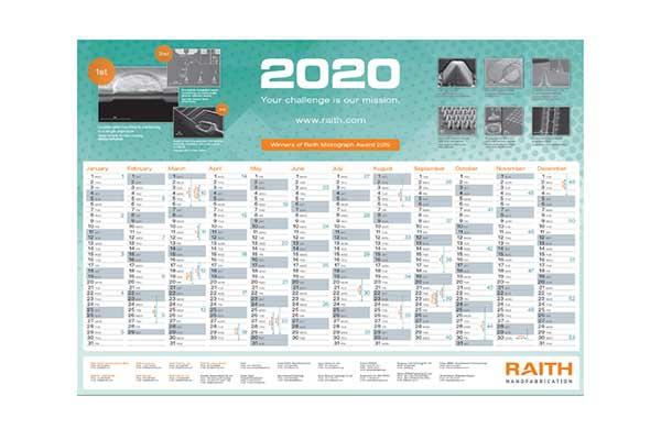 Free Raith 2020 Calendar
