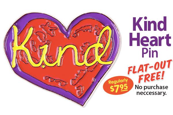 Free Penzeys Kind Heart Pin