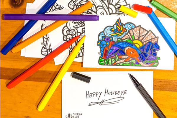 Free Mas Unidos Coloring Postcards