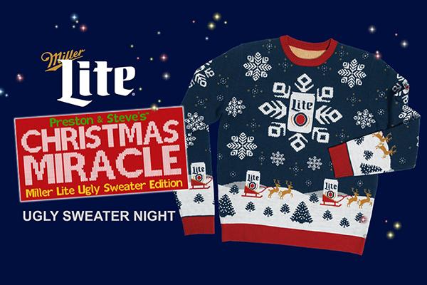 Free Miller Lite Xmas Sweater