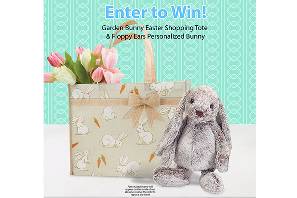 Free Garden Bunny Easter Tote