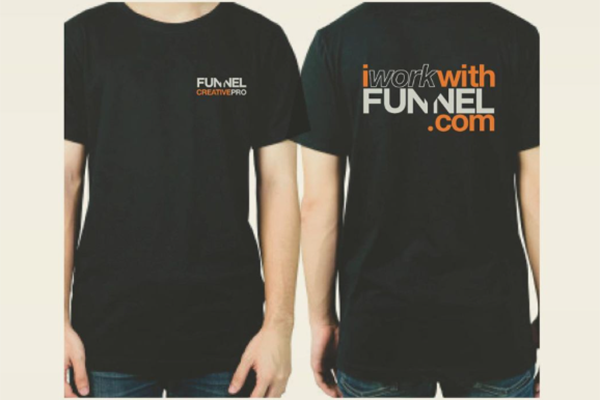 """Free """"I Work With Funnel"""" T-Shirt"""