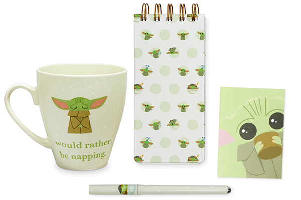 Free Baby Yoda Mug & Stationery Set