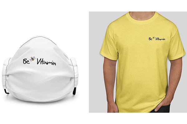 Free BeVitamin T-Shirt & Mask
