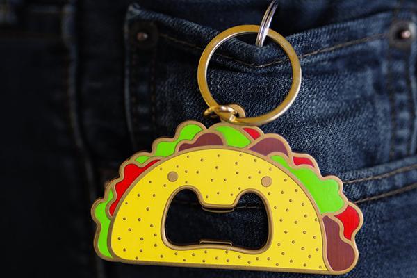 Free Taco Keychain Bottle Opener