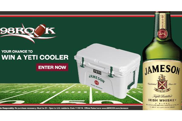 Free Jamesons YETI® Cooler