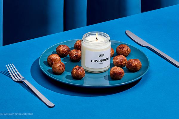 Free Ikea Meatball Candle