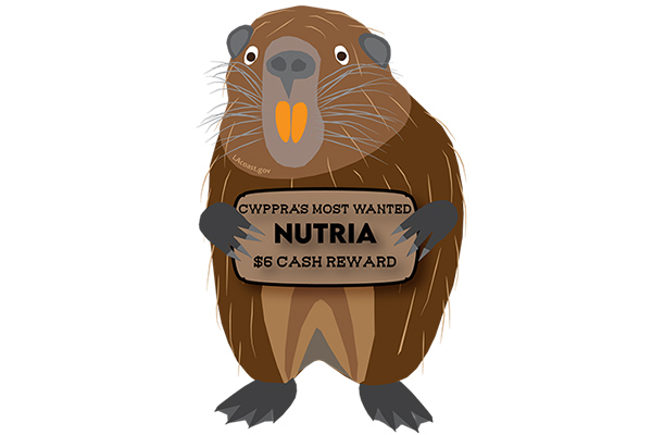 Free Wanted Nutria Magnet