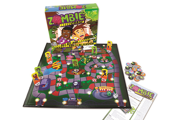 Free Zombie Chase Board Game